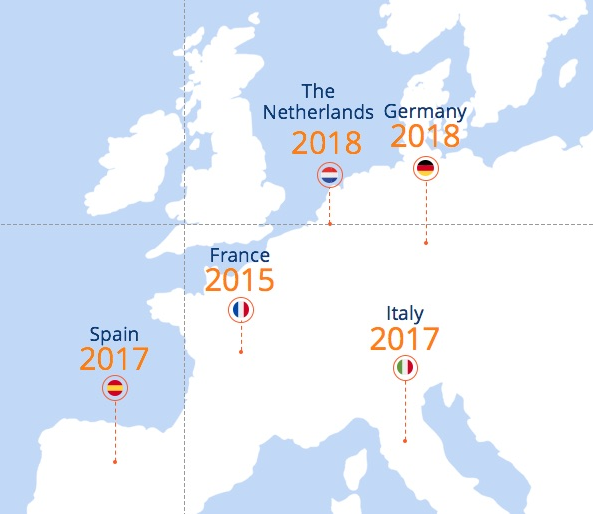 October Pays France Espagne Italie Allemagne Pays-Bas