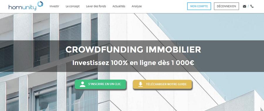 Homunity site de Crowdfunding immobilier