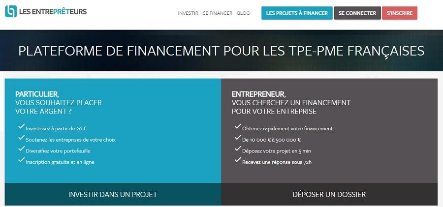 Les Entreprêteurs site de Crowdfunding