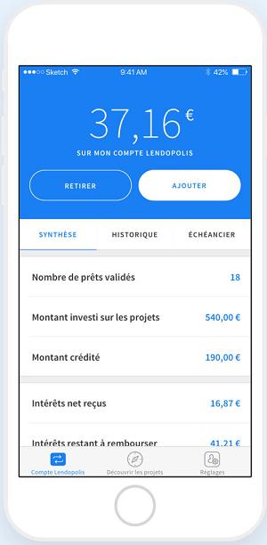 Lendopolis application Iphone