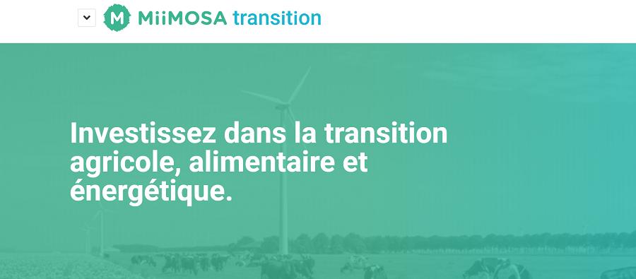 Miimosa Plateforme Crowdfunding Transition Agricole, Alimentaire et Energétique
